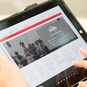 Asbestos awareness e-learning Course on a tablet